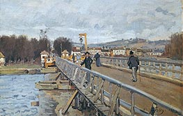 Footbridge at Argenteuil | Alfred Sisley | outdated