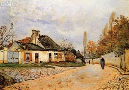 Neighborhood Street in Louveciennes, 1872 by Alfred Sisley | Painting Reproduction