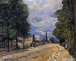 The Road from Gennevilliers, 1872 von Alfred Sisley | Gemälde-Reproduktion