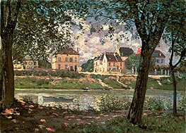 Villeneuve-la-Garenne (Village on the Seine) | Alfred Sisley | outdated