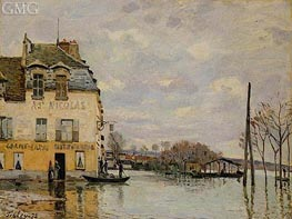 Flood at Port-Marly, 1872 by Alfred Sisley | Painting Reproduction