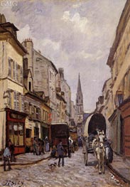 La Grande-Rue, Argenteuil, c.1872 by Alfred Sisley | Painting Reproduction