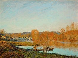 Autumn - Banks of the Seine near Bougival, 1873 by Alfred Sisley | Painting Reproduction