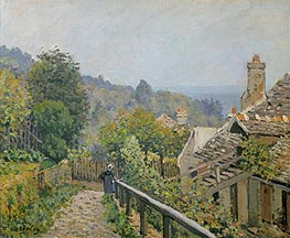 Louveciennes or, The Heights at Marly, 1873 by Alfred Sisley | Painting Reproduction