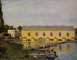 The Machine at Marley, 1873 by Alfred Sisley | Painting Reproduction