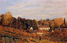 Kitchen Garden at Louveciennes, 1873 by Alfred Sisley | Painting Reproduction