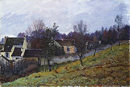 Autumn at Louveciennes, 1873 by Alfred Sisley | Painting Reproduction