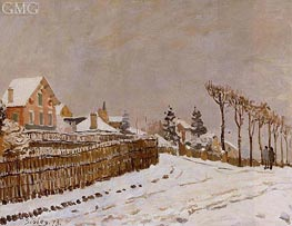 Snow at Louveciennes, 1873 by Alfred Sisley | Painting Reproduction