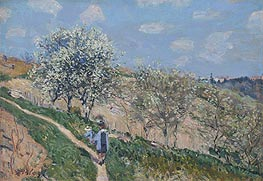 Spring in Bougival, c.1873 by Alfred Sisley | Painting Reproduction