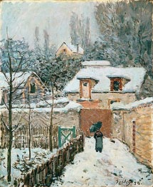 Snow at Louveciennes, 1874 by Alfred Sisley | Painting Reproduction
