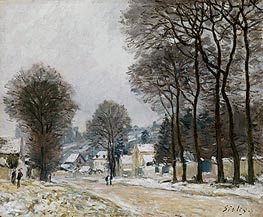 Snow at Louveciennes, c.1874 by Alfred Sisley | Painting Reproduction