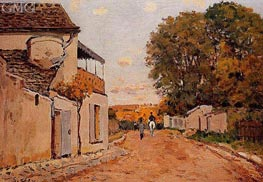 Street in Louveciennes (Rue de la Princesse), 1874 by Alfred Sisley | Painting Reproduction