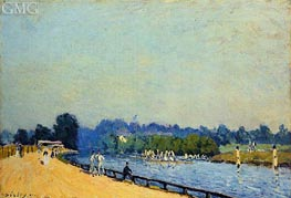 The Road from Hampton Court, 1874 by Alfred Sisley | Painting Reproduction