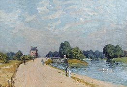 The Road to Hampton Court, 1895 by Alfred Sisley | Painting Reproduction