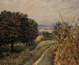 Among the Vines, 1874 by Alfred Sisley | Painting Reproduction
