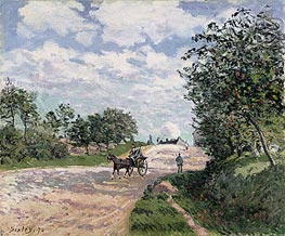 The Road to Nantes at Choisy le Roy, 1874 by Alfred Sisley | Painting Reproduction