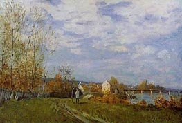 The Banks of the Saine at Bougival, 1876 by Alfred Sisley | Painting Reproduction
