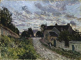 A Small Street in Louveciennes, 1876 by Alfred Sisley | Painting Reproduction