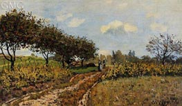 The Path in the Country, 1876 by Alfred Sisley | Painting Reproduction