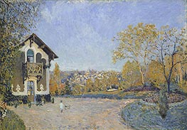 View of Marly-le-Roi from Coeur-Volant, 1876 by Alfred Sisley | Painting Reproduction