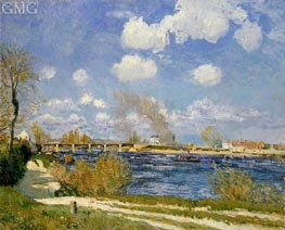 Bougival, 1876 by Alfred Sisley | Painting Reproduction
