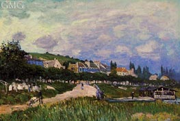 The Laundry, 1876 by Alfred Sisley | Painting Reproduction