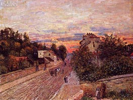 Sunset at Port-Marly, 1876 by Alfred Sisley | Painting Reproduction