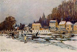 The Blocked Seine at Port-Marly, 1876 by Alfred Sisley | Painting Reproduction