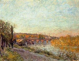 The Sevres Bridge, 1877 by Alfred Sisley | Painting Reproduction