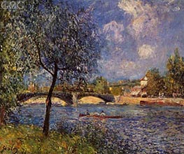 Rowers, 1877 by Alfred Sisley | Painting Reproduction