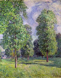 Landscape at Sevres, 1878 by Alfred Sisley | Painting Reproduction