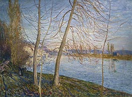 Winter Morning - Veneux, 1878 by Alfred Sisley | Painting Reproduction