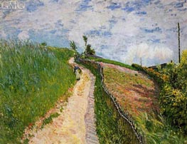 Path Leading to Ville D'Avray, 1879 by Alfred Sisley | Painting Reproduction