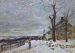 Snow at Veneux-Nadon, 1880 by Alfred Sisley | Painting Reproduction