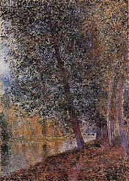 The Banks of the Loing, Autumn, 1880 by Alfred Sisley | Painting Reproduction