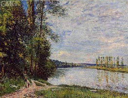 The Riverside Road from Veneux to Thomery, 1880 by Alfred Sisley | Painting Reproduction