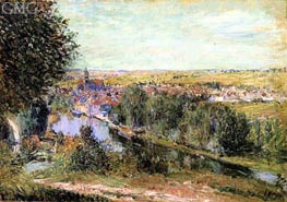 View of Moret, 1880 by Alfred Sisley | Painting Reproduction