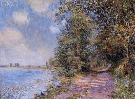 An August Afternoon near Veneux, 1881 by Alfred Sisley | Painting Reproduction