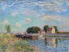 The Loing at Saint-Mammes, 1885 by Alfred Sisley | Painting Reproduction