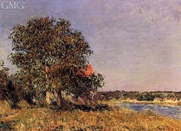 The Plain of Thomery and the Village of Champagne, 1882 by Alfred Sisley | Painting Reproduction