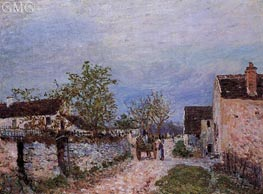 A Street in Veneux, 1883 by Alfred Sisley | Painting Reproduction