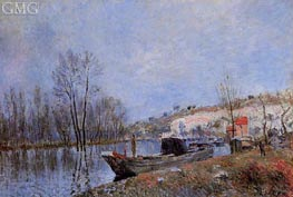 The Banks of the Loing towards Moret, 1883 by Alfred Sisley | Painting Reproduction