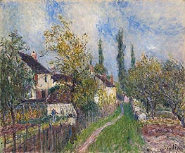 Path at Sablons, 1883 by Alfred Sisley | Painting Reproduction
