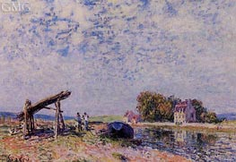 The Loing at Saint-Mammes, 1884 by Alfred Sisley | Painting Reproduction