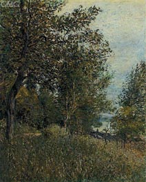 A Corner of the Roches-Courtaut Woods, June, 1884 by Alfred Sisley | Painting Reproduction