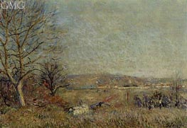 The Plain of Veneux, View of Sablons, 1884 by Alfred Sisley | Painting Reproduction