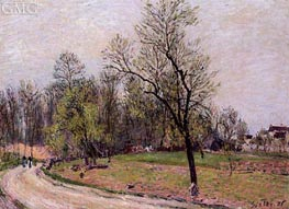 The Edge of the Forest in Spring, Evening, 1886 by Alfred Sisley | Painting Reproduction