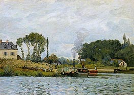Boats at the Lock at Bougival | Alfred Sisley | veraltet