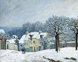The Place du Chenil at Marly-le-Roi, Snow | Alfred Sisley | veraltet
