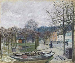 The Flood at Port-Marly | Alfred Sisley | veraltet